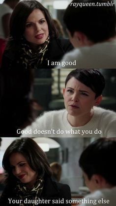 Emma thinks Regina is good ;) OUAT. Swan Queen