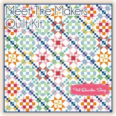 The best kind of meet and greet. Quilt kit includes the Meet the Makers Quilt Pattern and Confetti Cotton Solids fabric for the x quilt top and binding. This kit comes in a keepsake Riley Blake Designs box. Order yards separately for Fat Quarter Shop, Quilt Kits, Riley Blake, Quilt Top, Box Design, So Little Time, Confetti, Quilt Patterns, Meet