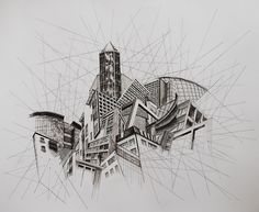 Architecture: Get inspired by this minimalist drawings. Architecture: Get inspired by this minimalist drawings. Architecture: Get inspired by this minimalist drawings. Architecture Artists, Architecture Sketchbook, Amazing Architecture, A Level Art Sketchbook, Minimalist Drawing, Perspective Art, Building Art, City Art, Urban Landscape
