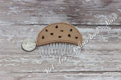 A personal favorite from my Etsy shop https://www.etsy.com/listing/489353155/chocolate-chip-cookie-hair-comb