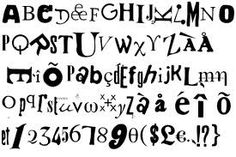 I like the way the artist has used the alphabet, numbers and symbols.. its like a collection of letters.