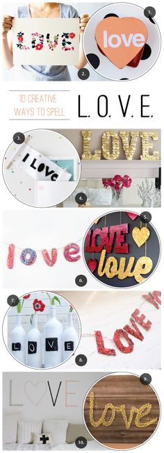 10 creative ways to spell love. Whether on a card or on your wall—spread the message with fun and pizzazz.