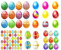 Decorated Easter eggs templates vector. We have over 10,000+ pictures. All images on the site vectorpicfree.com free for download and ready for print.