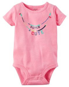 Baby Girl Neon Super Cute Collectible Bodysuit from Carters.com. Shop clothing & accessories from a trusted name in kids, toddlers, and baby clothes.