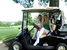 Some hot caddies at greengirlsgolf.com If you are interested in golf read more on greengirlsgolf.com #greengirlsgolf #girls #golf #golfcart #golfblogg