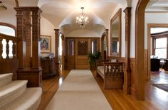 Oh, wow...this interior...Victorian Mansion For Sale in Portland Maine