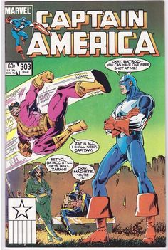 Captain America #303 March 1985 Marvel Comics Comic Book Batroc Zarani Machete
