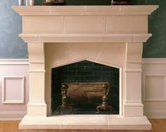"""We are beyond thrilled to be featured on the upcoming season of """"This Old House,"""" providing the fireplace for one of the much-beloved show's home renovations. Modern Fireplace Mantels, Stone Fireplace Surround, Stone Fireplace Mantel, Big Houses, Hearth, Home Remodeling, Living Room Decor, Family Room, Farmhouse"""