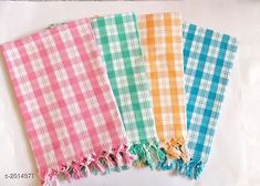 Hand & Face Towels Beautiful Cotton Bath  Towels (pack of 4) Fabric: Cotton Size (L X B): 30 in X 60 in Description: It Has 4 Piece Of Bath Towel Work : Checkered Country of Origin: India Sizes Available: Free Size *Proof of Safe Delivery! Click to know on Safety Standards of Delivery Partners- https://ltl.sh/y_nZrAV3  Catalog Rating: ★4.2 (701)  Catalog Name: Elegant Beauitiful Cotton Bath Towels Vol 11 CatalogID_266422 C71-SC1113 Code: 894-2014971-
