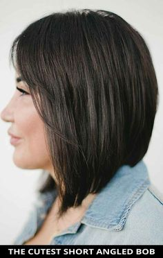 Don't miss this amazing cutest short angled bob for the ultimate inspiration! Need more inspiration? Here are the 27 trendy angled bob hairstyles you need to see. // Photo Credit: @mymanegame on Instagram
