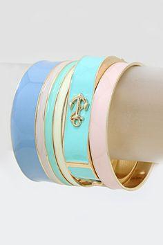 Oceana Bracelet Set in Cool Sorbet on Emma Stine Limited