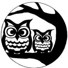 Free Full Moon Owl Stencil