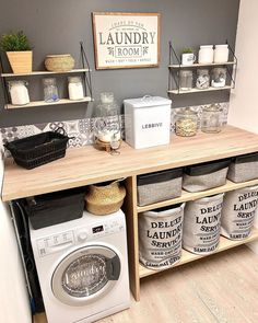 scandinavian furniture Home Deco auf In - furniture Laundry Room Layouts, Laundry Room Organization, Laundry Room Design, Laundry Rooms, Bathroom Storage, Small Bathroom, Bathrooms, Küchen Design, House Design