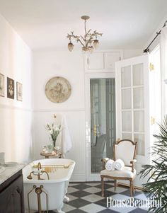 White Bathrooms - Decorating Ideas for White Bathrooms - House Beautiful