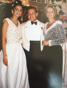 Queen Rania, King Abdullah with Princess Muna at the wedding of the ...