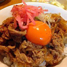 しらたきを入れて、かさ増し。 - 69件のもぐもぐ - あつしさんの料理 八丁味噌牛丼 by mayutaku
