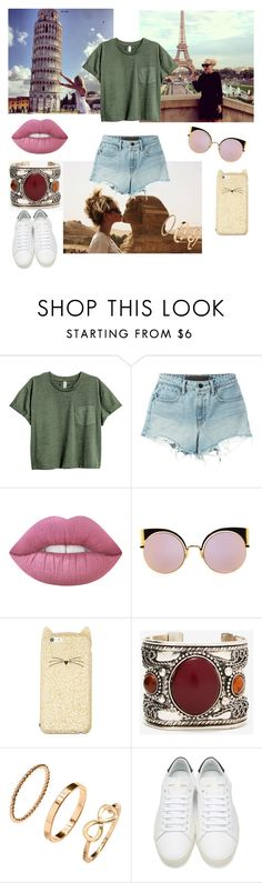 """#Traveltheworld"" by annie-travers ❤ liked on Polyvore featuring T By Alexander Wang, Lime Crime, Fendi, Kate Spade, H&M, Yves Saint Laurent and Sassyandclassygirls"
