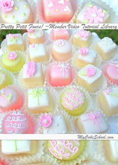 Pretty Petit Fours Video Tutorial (for members)~MyCakeSchool.com!
