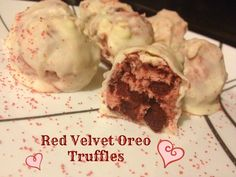 Red Velvet Oreo Truffles - 4 simple ingredients give a truffle that is filled with flavor!