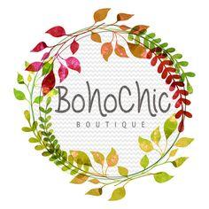 Boho Chic Logo  Premade Logo Custom Logo by GypsySoulDesignShop