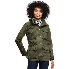 Lands' End Women's Petite Long Sleeve Military Jacket