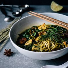 """Christoffer on Instagram: """"Miso soup with Soba noodles, shiitake ..."""