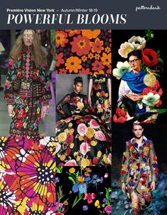 Première Vision New York – Autumn/Winter Print & Pattern Trend Round Up Spring Fashion Trends, Fall Trends, Women's Trends, Design Trends, Textures Patterns, Print Patterns, Flower Power, Image Coach, Fashion Forecasting