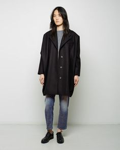 MM6 by Maison Margiela | Felted Wool Cocoon Coat | La Garçonne