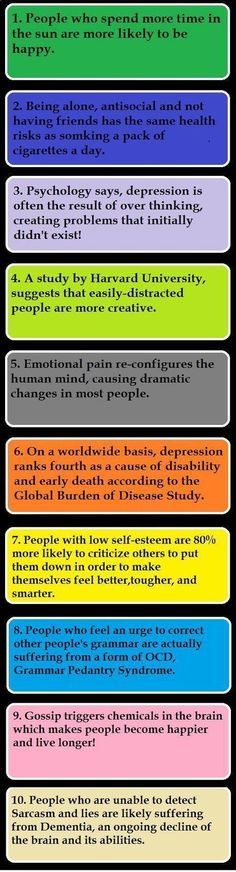 10 psychological facts. Interesting. Number eight...