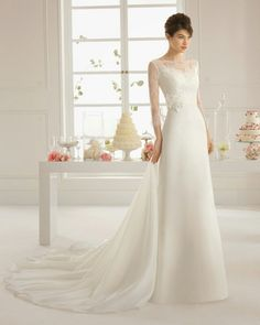 ♡♥♡Base can be the sheath dress with sweetheart neckline.  Then we can construct the lace overlay and the train or a cape.
