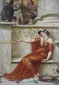 View Revelry by John Reinhard Weguelin on artnet. Browse upcoming and past auction lots by John Reinhard Weguelin. John William Godward, Renaissance Kunst, Classic Paintings, Pre Raphaelite, Historical Art, Classical Art, Fine Art, Types Of Art, Aesthetic Art