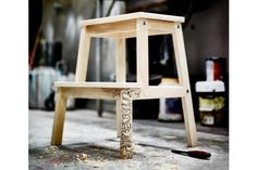 Kids love to draw on everything their not supposed to draw on, right. Why not assign them something unconventional to go crazy on? Let your child make a masterpiece out of the IKEA BEVAM stool. It's a perfect blank canvas for a creative kid to practice on.