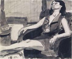 Richard Diebenkorn - Untitled (Sitting Woman, in Profile)