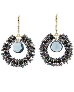 Dana Kellin Stormy Mix Double Drop Earrings