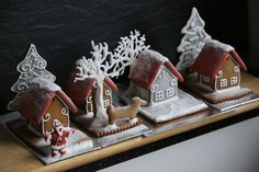 miniature gingerbread houses https://www.facebook.com/gingerbreadhousecompany/