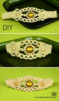 Sun in the Sea - Macrame Bracelet Tutorial: http://youtu.be/-BYZlX8-lAo #Macrame #Bracelet #Tutorial