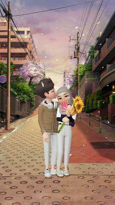 Boy And Girl Friendship, Hijab Cartoon, Cute Cartoon Pictures, Beautiful Photos Of Nature, Muslim Couples, Disney, Poster, Cartoon Wallpaper, Phone Wallpapers