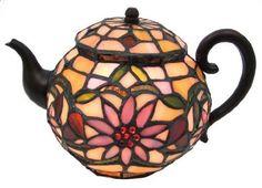 tiffany style teapot lamp