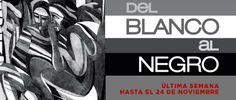 Del blanco al negro se despide del MUNAE, el 24 de noviembre es el último día de la exposición ¿ya la visitaste? te esperamos!