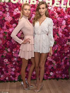 Josephine Skriver and Stella Maxwell highlight legs for VS bash #dailymail