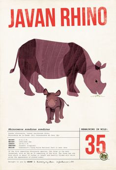Javan Rhino Fund Open Edition Poster by ShopAmySullivan on Etsy