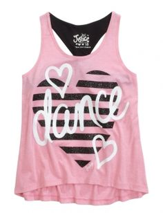 Dance Embellished Twist Back Tank from justice for girls