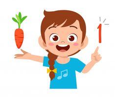 Cute Cartoon Girl, Cartoon Kids, Visual Perception Activities, Teacher Cartoon, Abc For Kids, Kids Study, Art Drawings For Kids, Teaching Aids, Math Numbers