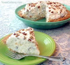 Millionaire Pie Recipe ~ Cream cheese, pineapple, coconut & pecans.....anything with these ingredients has got to be good! ~ I recently made this pie and put it in a shortbread crust.....it was soooo delicious!