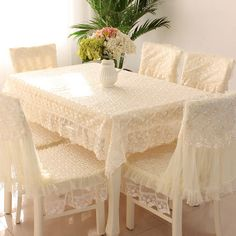 abfc158e896 Hot-selling ! dining table cloth chair covers cushion rustic lace cloth  crystal embroidered Chair