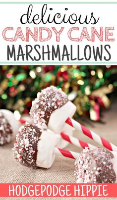 If you're looking for an easy marshmallow recipe, this is the one for you. Simple, fun, and tasty! #marshmallow #easyrecipe #candycanerecipe