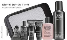 Don't you have anything for HIM, yet? Just a reminder: Father's day - June 16, 2013. and this could be a nice gift for him http://clinique-bonus.com/united-kingdom/ with free next day delivery option with coupon code: DELIVERY. Yours with any 2 purchases (one to be from Clinique for Men)
