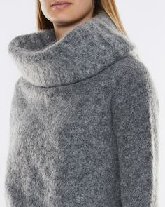 Raze Mohair by Acne Studios, a lovely mohair/ull mix knit with an oversized collar. Loose fit and long sleeves. Acne Studios, Turtle Neck, Long Sleeve, Sleeves, Sweaters, Fashion, Moda, Long Dress Patterns, Fashion Styles