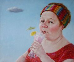 WOLKJE, 2008 - oil on canvas, 50x60cm - Geeske Harting - #dutch #art #portrait #realism