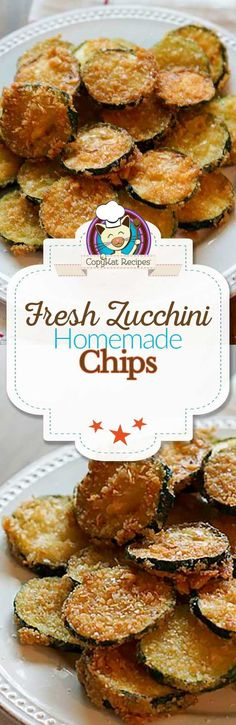 You turn fresh zucchini into these amazing fried chips.